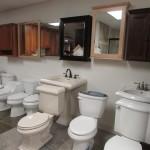 Vanities and toilets